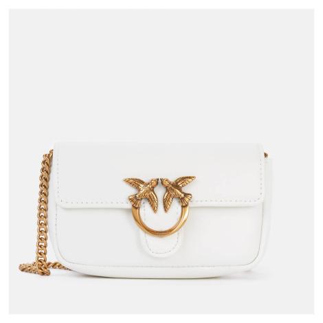 Pinko Women's Love Tiny Simply Cross Body Bag - White