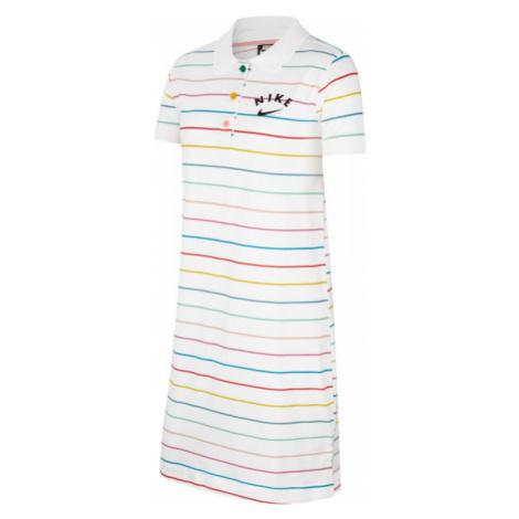 Nike NSW DRESS POLO FB G white - Girls' dress