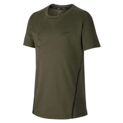 Nike NK DRY TOP SS dark green - Boys' sports T-shirt