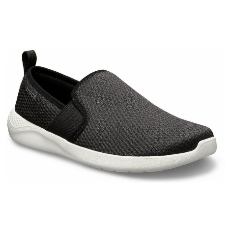 shoes Crocs LiteRide Mesh Slip-On - Black/White - women´s