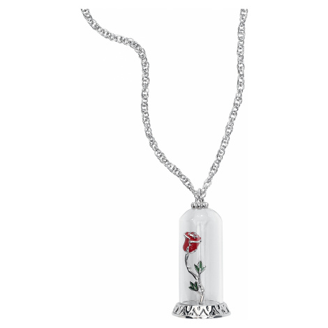 Beauty and the Beast - Disney by Couture Kingdom - Enchanted Rose - Necklace - silver-coloured