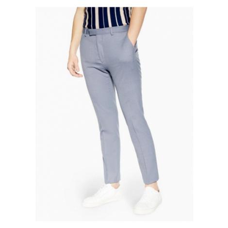 Mens Navy Blue Premium Textured Skinny Fit Suit Trousers, Navy Topman