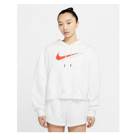 White women's sports pullover sweatshirts and hoodies