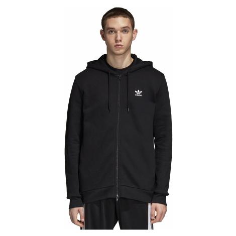 sweatshirt adidas Originals Trefoil Zip - Black - men´s