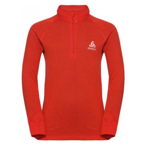 Odlo BL TOP TURTLE NECK L/S HALF ZIP ACTIVE WARM red - Children's T-shirt