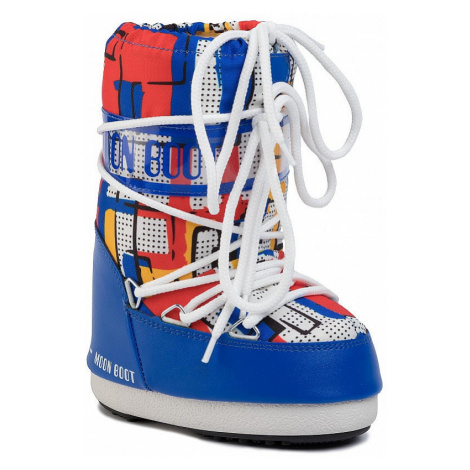 shoes Tecnica Moon Boot Abstract - Blue/Yellow - kid´s