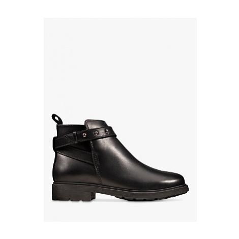 Clarks Children's Astrol Soar Leather Ankle Boots, Black