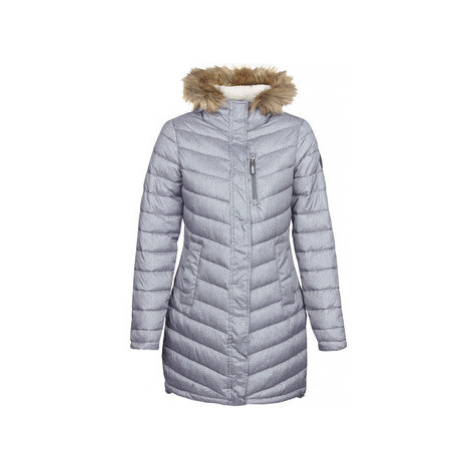 Superdry CHEVRON FAUX FUR SUPER FUJI women's Jacket in Grey