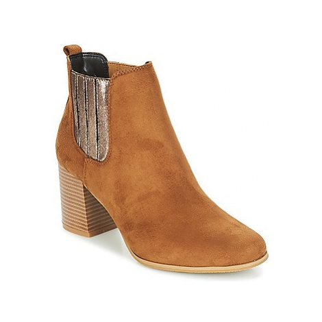 Moony Mood JANNA women's Low Ankle Boots in Brown