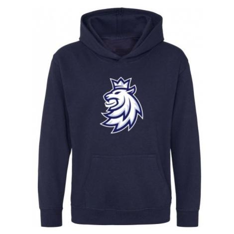 Střída KANGAROO SWEATHIRT LOGO LION CIHT dark blue - Children's hoodie