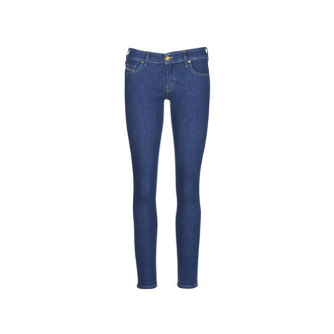 Diesel SLANDY LOW women's Skinny Jeans in Blue