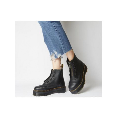 Dr. Martens Sinclair Zip Boots BLACK MILLED LEATHER Dr Martens