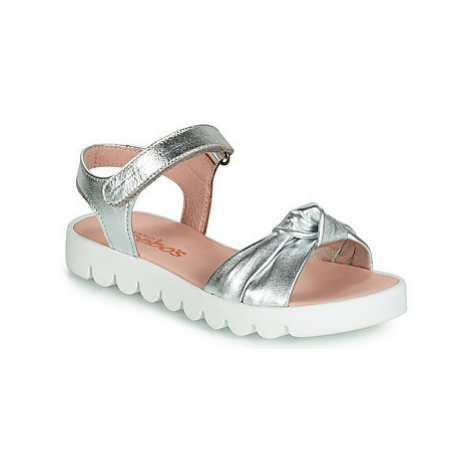 Acebo's LILILU girls's Children's Sandals in Silver