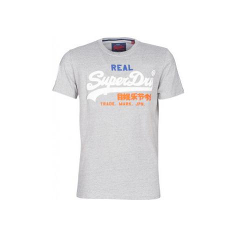 Superdry VINTAGE LOGO TRI TEE men's T shirt in Grey
