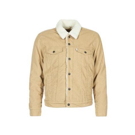 Levis TYPE 3 SHERPA TRUCKER men's Denim jacket in Beige Levi´s