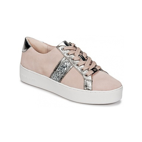 MICHAEL Michael Kors POPPY STRIPE LACE UP women's Shoes (Trainers) in Pink