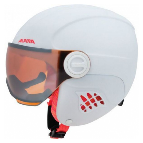Alpina Sports CARAT LE VISOR HM white - Kids' ski helmet