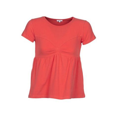 Manoush MOLLETON women's T shirt in Orange