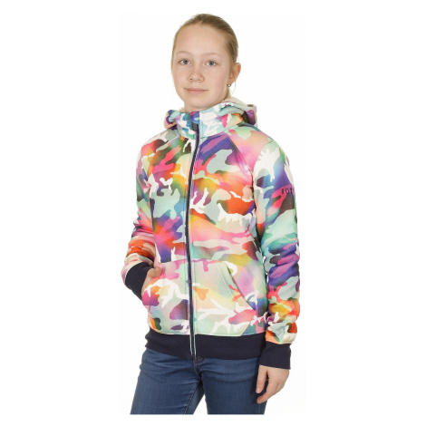 Roxy Resin Zip Sweatshirt - WBB8/Traditional Camo/Bright White