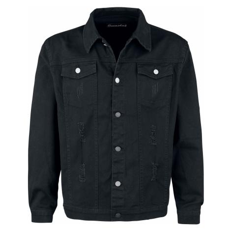 Doomsday - Blackened Skull - Jeans jacket - black
