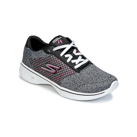 Skechers GO WALK 4 women's Slip-ons (Shoes) in Black