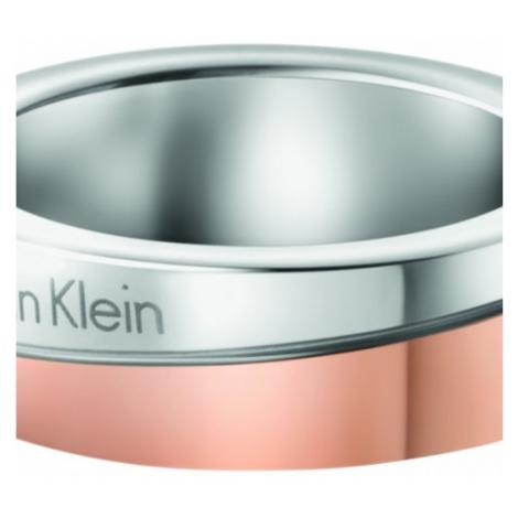 Ladies Calvin Klein Two-Tone Steel and Rose Plate Size J Hook Ring KJ06PR200105