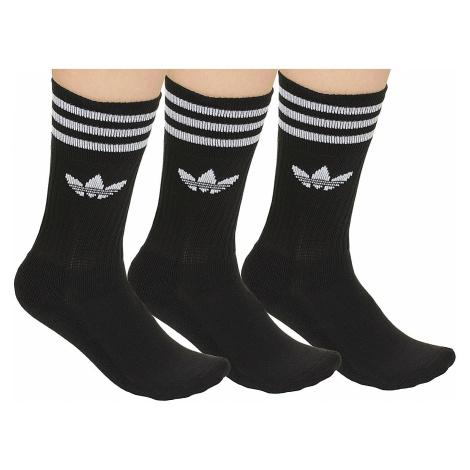 adidas Originals Solid Crew Sock 3 Pack Socks - Black/White