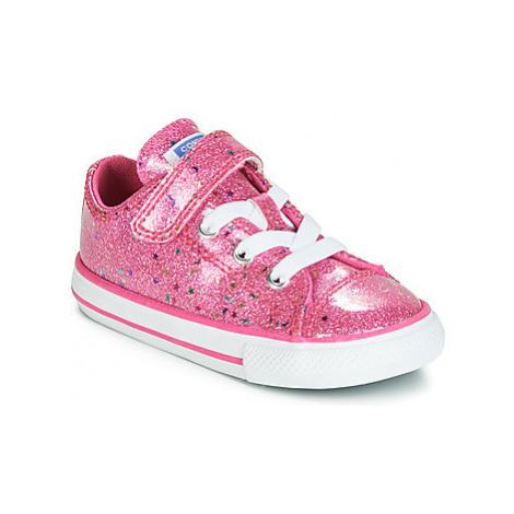 Converse CHUCK TAYLOR ALL STAR 1V GALAXY GLIMMER OX girls's Children's Shoes (Trainers) in Pink