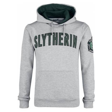 Harry Potter - Slytherin - Logo - Hooded sweatshirt - mottled grey