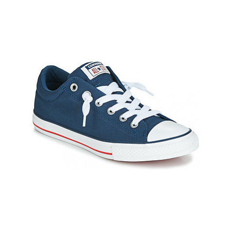 Converse CHUCK TAYLOR ALL STAR STREET CANVAS OX girls's Children's Shoes (Trainers) in Blue