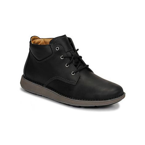 Clarks UN LARVIK TOP men's Mid Boots in Black