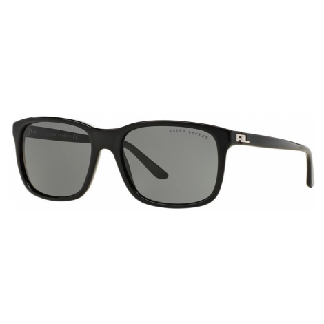 Ralph Lauren Man RL8142 - Frame color: Black, Lens color: Grey-Black, Size 56-18/140