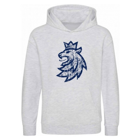 Střída KANGAROO HOODIE LION LOGO PATINA grey - Children's hoodie
