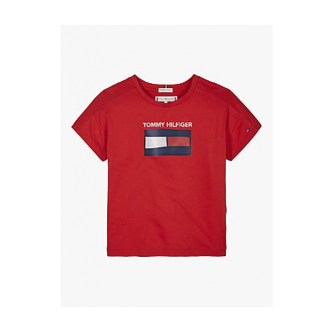 Tommy Hifiger Girls' Fun Flag T-Shirt Tommy Hilfiger