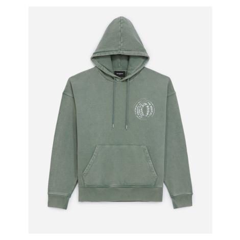 The Kooples - Faded green sweatshirt with hood - MEN