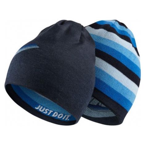 Nike BEANIE REVERSIBLE blue - Children's reversible hat