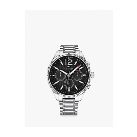 Tommy Hilfiger 1791469 Men's Chronograph Bracelet Strap Watch, Silver/Black