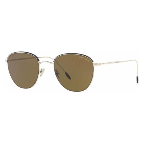 Giorgio Armani Man AR6048 - Frame color: Gold, Lens color: Brown, Size 51-21/150