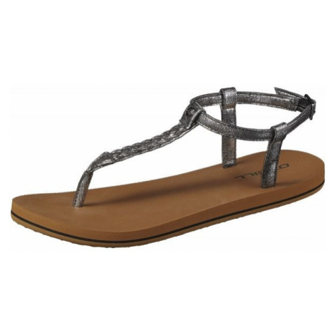 O'Neill FW BRAIDED DITSY PLUS SANDAL dark gray - Women's sandals