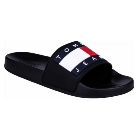 Tommy Hilfiger JEANS FLAG POOL SLIDE black - Men's slippers