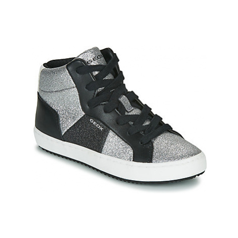 Geox J KALISPERA GIRL girls's Children's Shoes (High-top Trainers) in Silver
