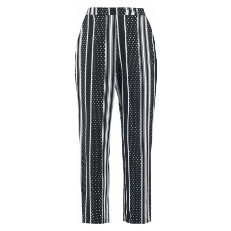 Banned Retro - Spots and Stripe Trousers - Girls trousers - black-white