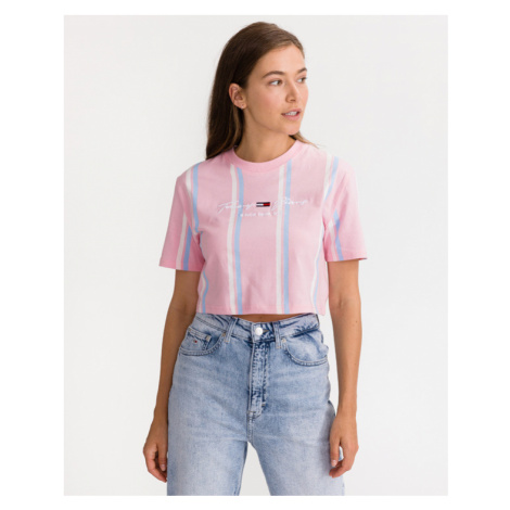 Tommy Jeans Pastel Stripe Crop top Pink Tommy Hilfiger