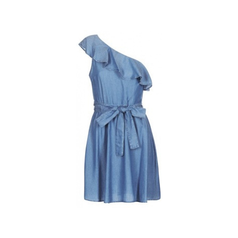 MICHAEL Michael Kors ONE SHLDR RUFFLE DRS women's Dress in Blue