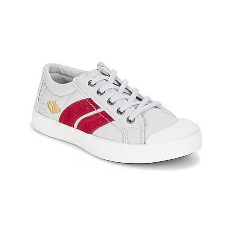 Palladium PALLAFLAME LOW CVS boys's Children's Shoes (Trainers) in Grey