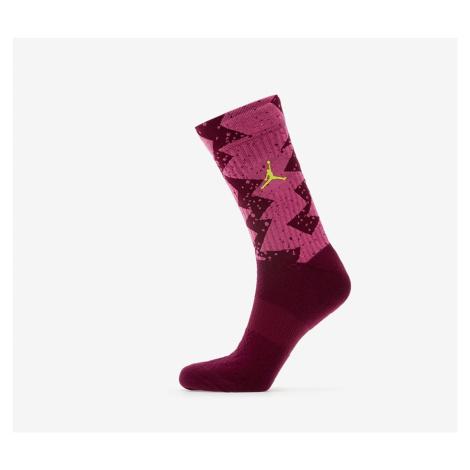 Jordan Legacy Poolside Crew Socks 1-pair Bordeaux/ Cosmic Fuchsia/ Cyber