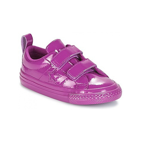 Converse ONE STAR 2V SYNTHETIC OX girls's Children's Shoes (Trainers) in Purple