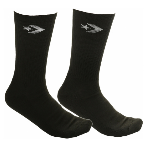 socks Converse Classic Star Chevron Crew 2 Pack - E726B/Black/White/Black/Wolf - men´s