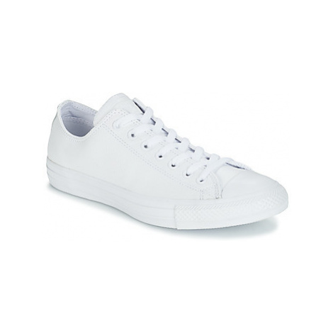 Converse ALL STAR MONOCHROME CUIR OX women's Shoes (Trainers) in White