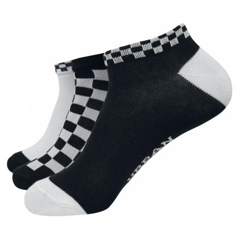 Urban Classics - Sneaker Socks Checks 3-Pack - Socks - black-white